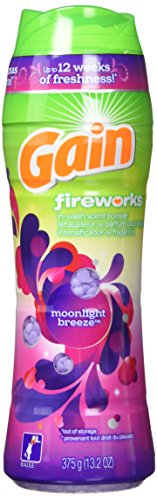 Breeze Booster (Gain Fireworks Laundry Scent Booster Beads, Moonlight Breeze Scent, 375 g)