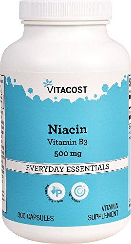 Vitacost Niacin (Vitamin B-3) – 500 mg – 300 Capsules