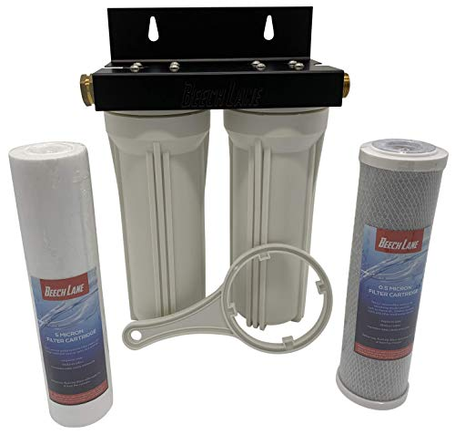 - Beech Lane External RV Dual Water Filter System, Leak-Free Brass Fittings, Mounting Bracket and Two Filters Included, Sturdy Construction is Built to Last