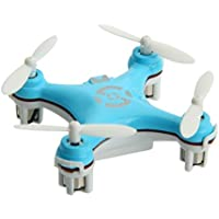 oneCase Cheerson CX-10 29mm 4 Channel 2.4GHz Radio Control RC Mini Quadcopter Helicopter Drone 6-Axis Gyro UFO with LED Flash Light - Light Blue