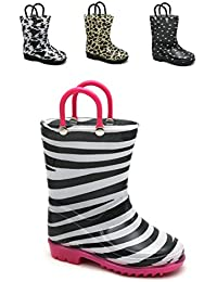 Kids Girls Printed Rainboots Assorted Animal Prints Toddler/Little Kid/Big Kid Sizes