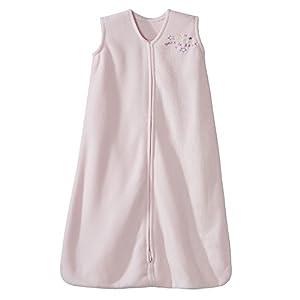 Halo Sleepsack Micro-Fleece Wearable Baby Blanket, Soft Pink, Medium