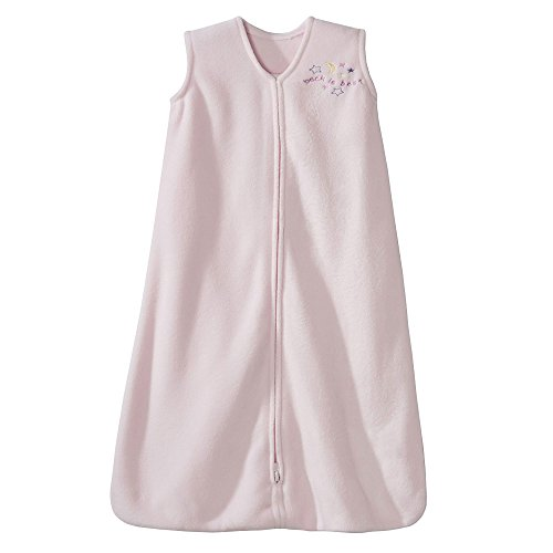HALO Sleepsack Micro-Fleece Wearable Blanket, Soft Pink, Small (Summer Infant Bed Rail Pink)