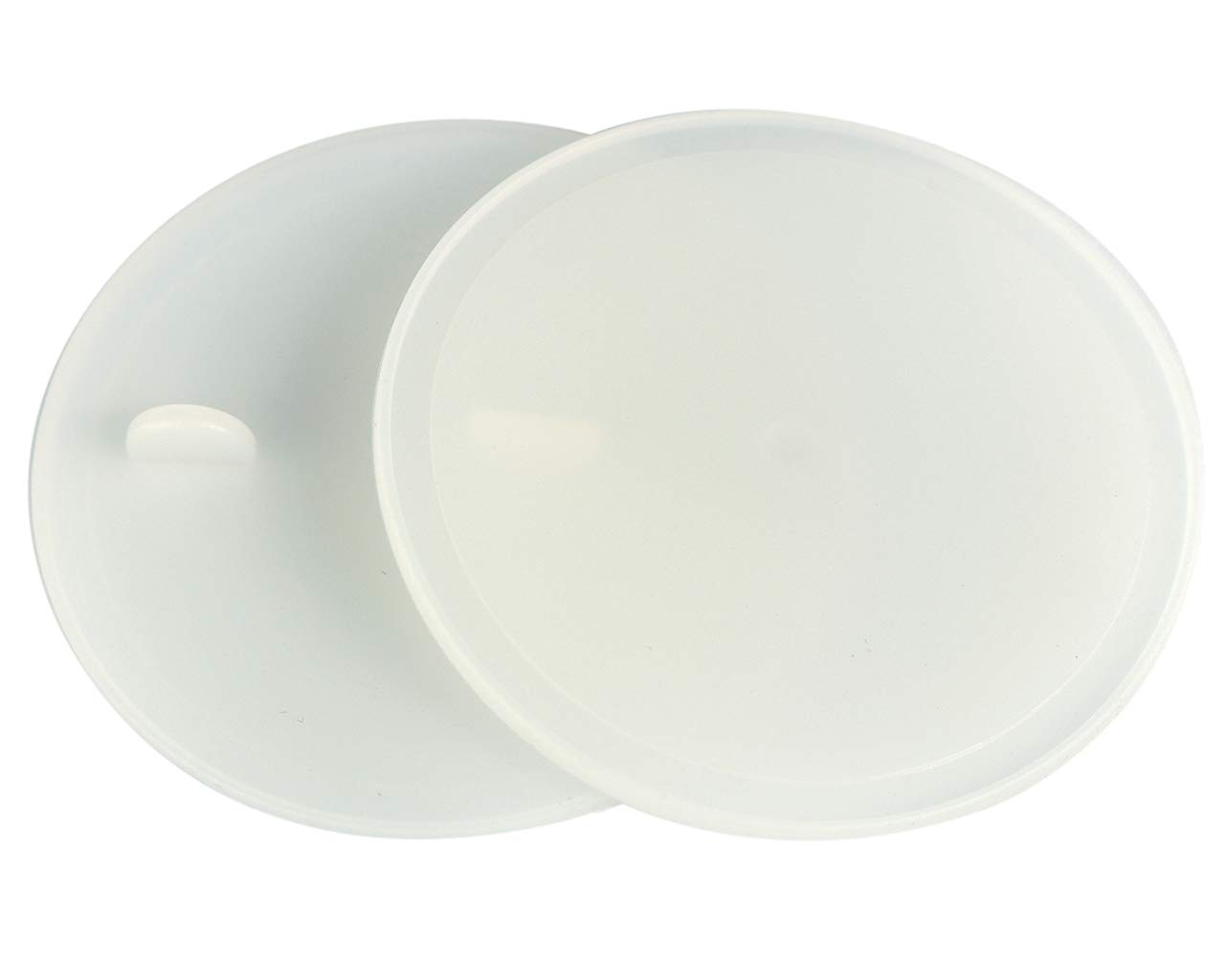Leak Proof Platinum Silicone Sealing Lid Inserts/Liners for Mason Jars (10 Pack, Regular Mouth)