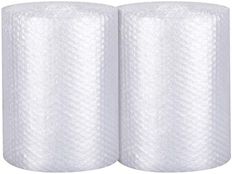 Bubble Cushioning Wrap 2 pack - Bubble Cushioning Wrap for Moving with Perforated Every 12'', Easy to Tear, Small Bubble, Thicker & Durable for Packing, Delivering & Moving (12'' x72 Feet, 36'/Roll)