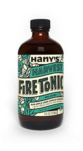 Hany's All Natural Harvest Flavor Fire Cider Tonic with Blackstrap Molasses 8 oz