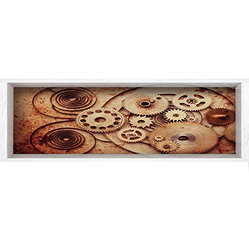Clock Mechanical Copper (3D Depth Illusion Wall Mural Stickers,70.8