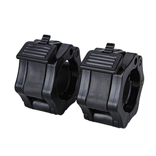 Lalawow Collares barra de pesas 1 par para el entrenamiento de pesas con mancuernas (Negro, 26,5-28mm): Amazon.es: Deportes y aire libre
