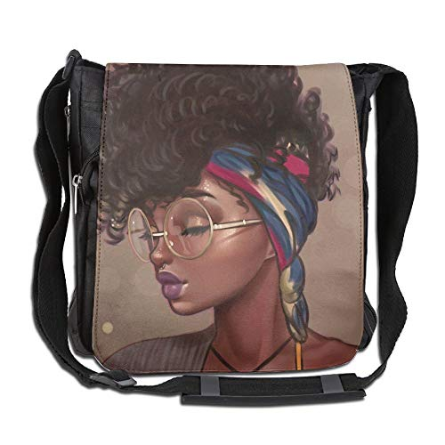SARA NELL Messenger Bag,african American Women,Unisex Shoulder Backpack Cross-body Sling Bag