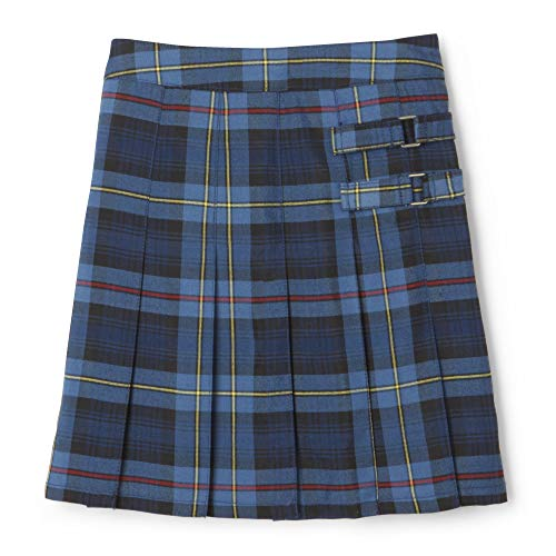 French Toast Girls' Big Plaid 2-Tab Scooter, Blue & Red, 18.5