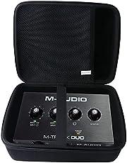 Waiyu - Funda rígida EVA para M-Audio M-Track Solo - Interfaz de audio USB (grande)