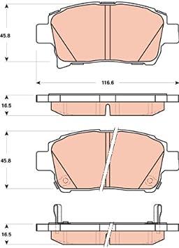 TRW TPC0990 Premium Ceramic Front Disc Brake Pad Set