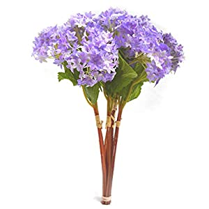 12 pcs/lot Lovely Purple Mini Hydrangea Artificial Fake plastic Mini Fresh Silk Flower Arrangement Home Home Decorative Flowers Bouquet Dining-table Hotel party Wedding DIY Craft fake flores marriage decoration (purple) 11