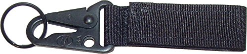Fire Force Tactical Key Chain Molle Key Holder with Hk Style Hook Made in USA (Black) ()