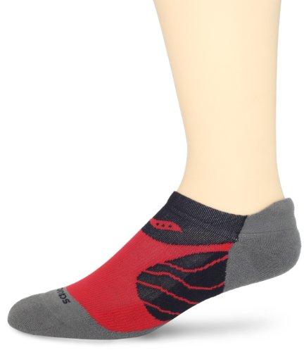 Saucony Mens 1 Pack Kinvara No Show Tab Socks, Element, Sock Size:10-13/Shoe Size: 6-12
