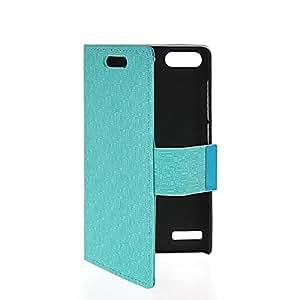 Pattycase Carcasa Funda Caso Cuero Tapa Cartera Case Cover Para Huawei Ascend G6 Azul