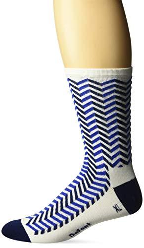 - DEFEET AIRTVIBEWTBL201 Aireator Barnstormer Socks, Medium, White/Navy Blue
