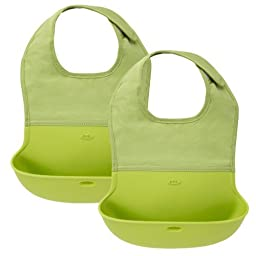 OXO Tot Roll Up Bib, 2 Pack (Green)