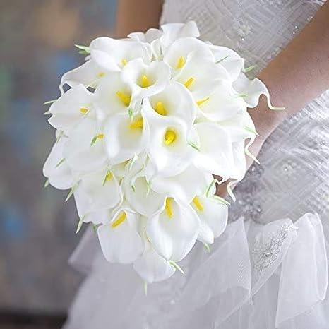 Simulación de flores artificiales falsa decoración de lirio Calla vívida para