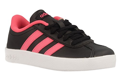 adidas VL Court 2.0 K, Zapatillas de Deporte Unisex Niños Negro (Negbas/Ftwbla/Rosrea 000)