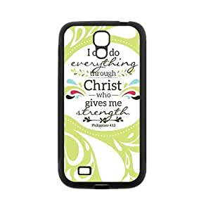 Custom Bible Verse Custom Back Cover Case for SamSung Galaxy S4 I9500 JNS4-493 by Maris's Diary