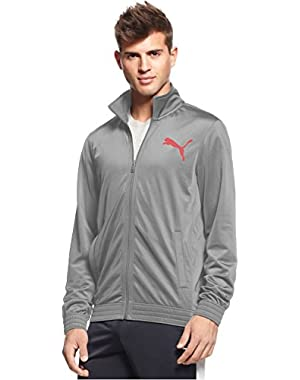 Contrast Full-zip Track Jacket Quary Grey Large