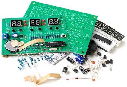 AT89C2051 6 Digit LED Clock DIY Kit 7-Segment Receiver Arduino Flux Workshop