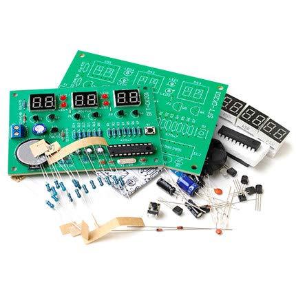 シングルチップAT89C2051 6桁デジタルクロックキットDIYパーツモジュール6桁LEDデジタルチューブディスプレイ