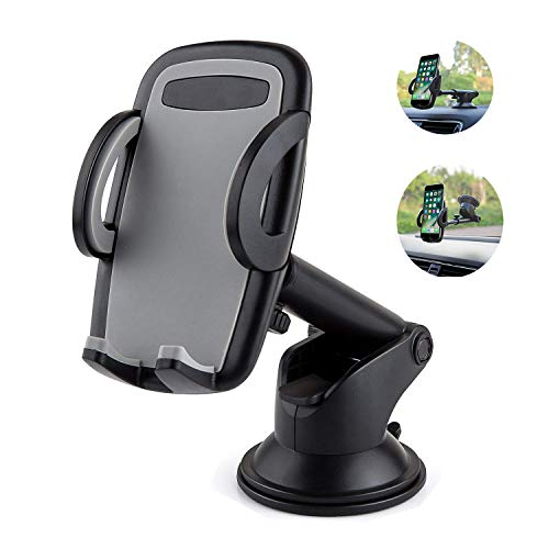 LSXD Car Mount Windshield Dashboard Phone Holder with Quick
