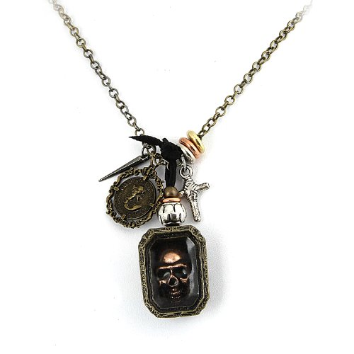 rustic-chain-link-necklace-with-skull-in-a-box-and-cross-pendants
