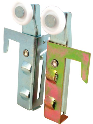 Prime-Line Products N 6548 Prime Line N6548 Convex Edge Side Mount Door Assembly, 7/8 in Dia X 1/4 in W, 1 Roller, quot W, Mill