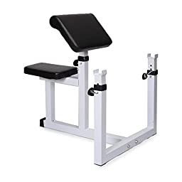 Generic Commercial Preacher Curl Weight Bench Seated Preacher Isolated Dumbbell Biceps