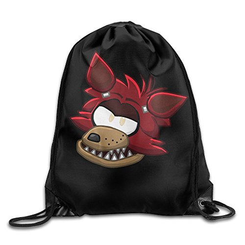Foxy Five Nights At Freddy Club Penguin Drawstring Backpack Bag White