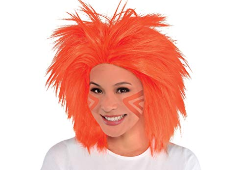 Amscan Game Ready Team Spirit Party Crazy Wig Accessory, 1 Pieces, Made from Polyester, Birthday/Celebration