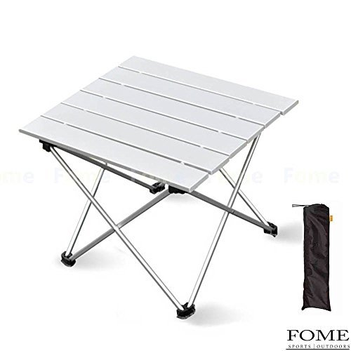 Folding Camp Table, iDeep Portable Compact Aluminum Folding Table Roll-up Table Camping Table with Carry Bag for Picnic Camp Beach(15.7x13.6x12.6in) [並行輸入品] B07BBM4GFB