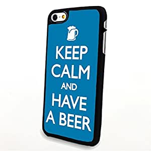 Generic Phone Accessories Matte Hard Plastic Phone Cases Quote Keep Calm and Have a Beer fit for Iphone 6