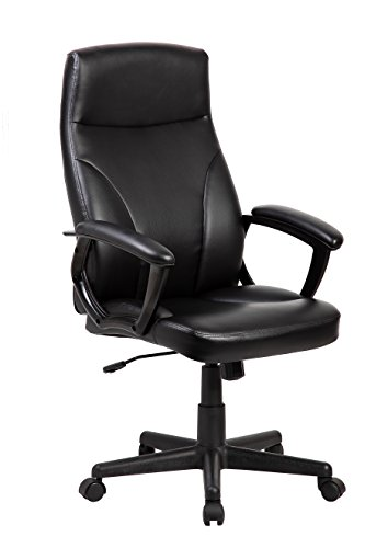 Techni Mobili Medium Back Manager Office Chair in Black