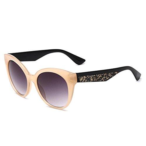 Aoligei Lunettes de soleil dames européennes shing lunettes de soleil mode E