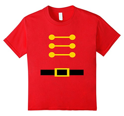 Kids Toy Soldier Christmas Nutcracker Costume T-shirt 8 (Soldier Girl Costume Ideas)