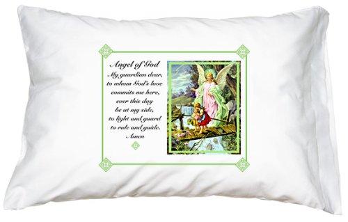 Angels Pillow (Traditional Guardian Angel Prayer Pillowcase)