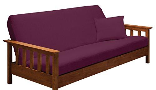 Madison Stretch Jersey Futon Slipcover Purple,