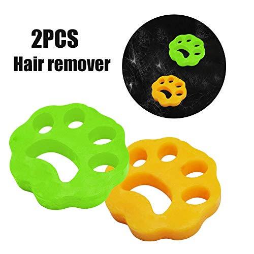 Depiladora para mascotas para lavar la ropa - Bolas de secadora reutilizables no toxicas La lavadora y la secadora de bolas eliminan el pelo largo de los perros y gatos en la ropa de la lavadora