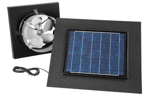 (Broan 345GOBK Gable or Remote Mount Solar Powered Attic Ventilator, 28-Watt, Black)