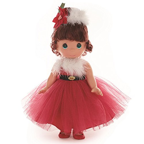 Precious Moments Dolls by The Doll Maker, Linda Rick, Santa Baby, Brunette, 12 inch Doll - Moments Precious Vinyl Doll