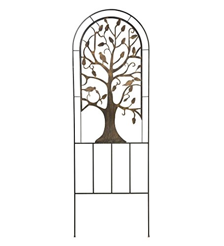 Metal Garden Trellis with Tree of Life Design Trellises