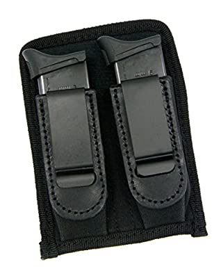 HOLSTERMART USA CEBECI IWB Inside Pants CONCEALMENT Double Magazine Holder Carrier Pouch (Single and Double Stack) for 22 25 32 380 9mm 40mm 45mm