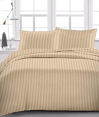 British Choice Linen - Juego de sábanas de algodón egipcio (4 ...