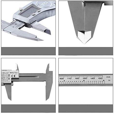 JINHUADAI Electronic digital display vernier caliper 0-150mm industrial grade digital caliper stainless steel high-precision measurement tool (size: 0-150mm)