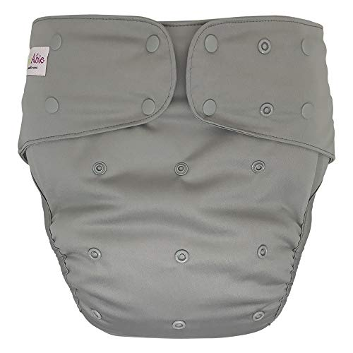 Cloth Diaper Cover - Reusable Special Needs Incontinence Briefs for Big Kids, Teens and Adults (Grey, Extended)