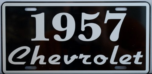 1957 57 CHEVROLET LICENSE PLATE CHEVY